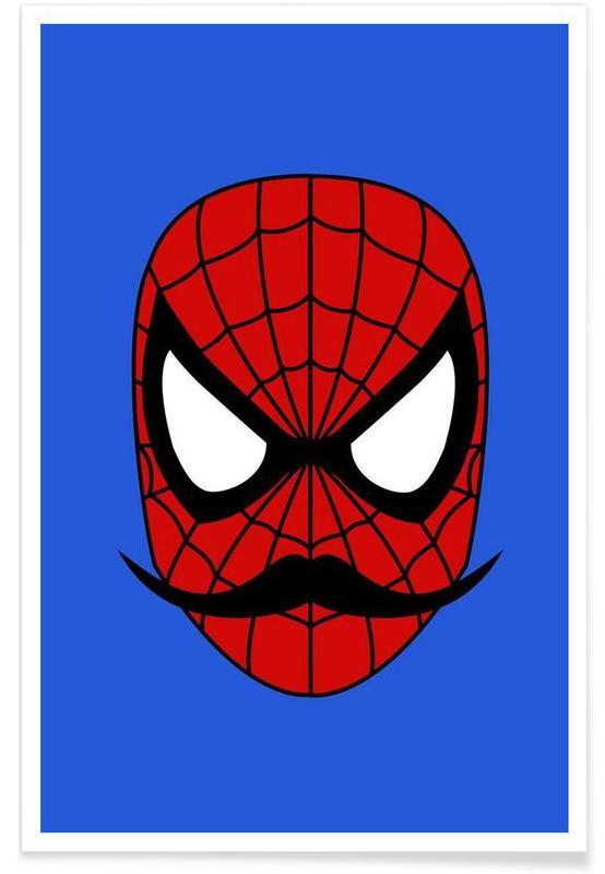 Spider Stache Poster