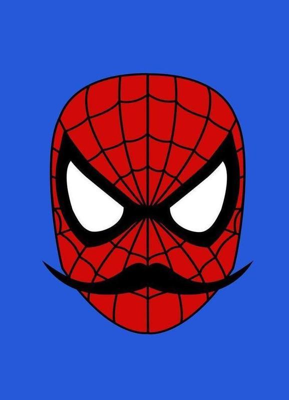 Spider Stache -Leinwandbild