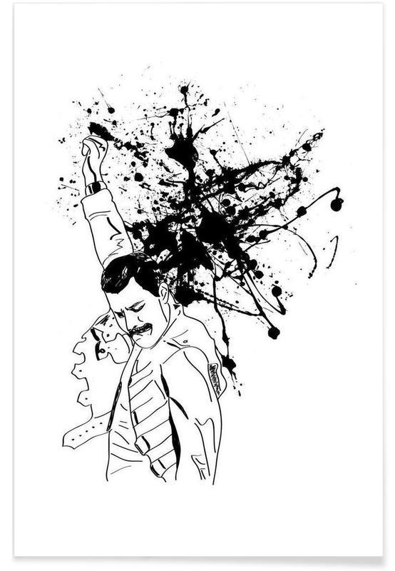 Zwart en wit, Rock, Freddie poster