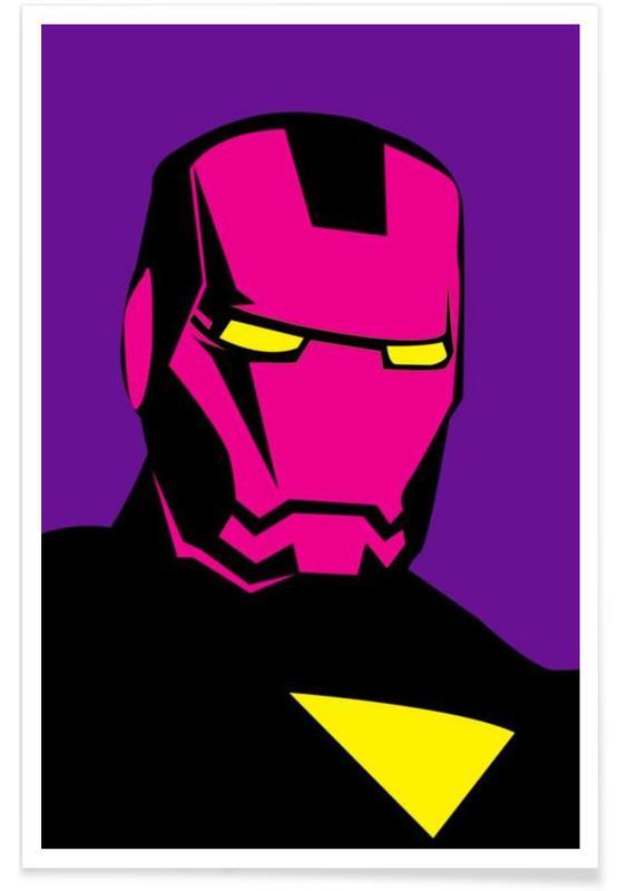 Iron Man, Pop Art, Pop The Iron affiche