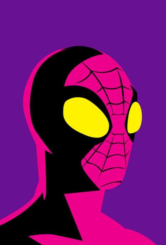 Pop The Spider Aluminium Print