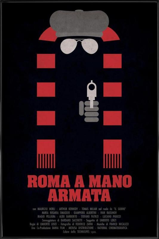 Roma a Mano Armata Framed Poster
