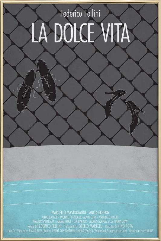 La Dolce Vita Poster in Aluminium Frame