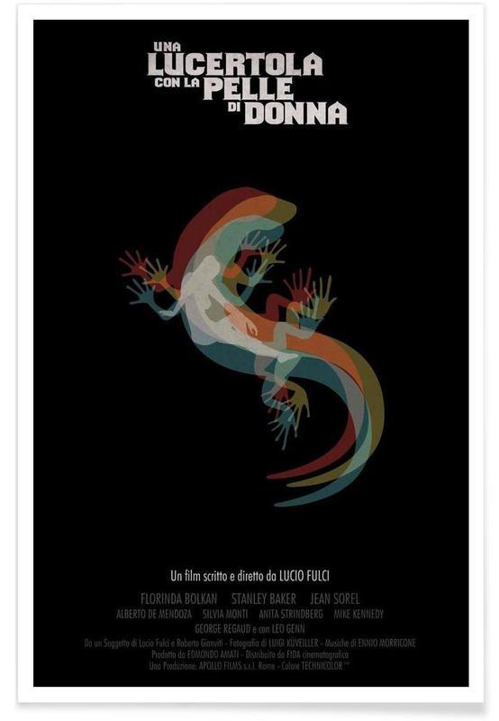Films, Retro, Una Lucertola con la pelle di Donna poster