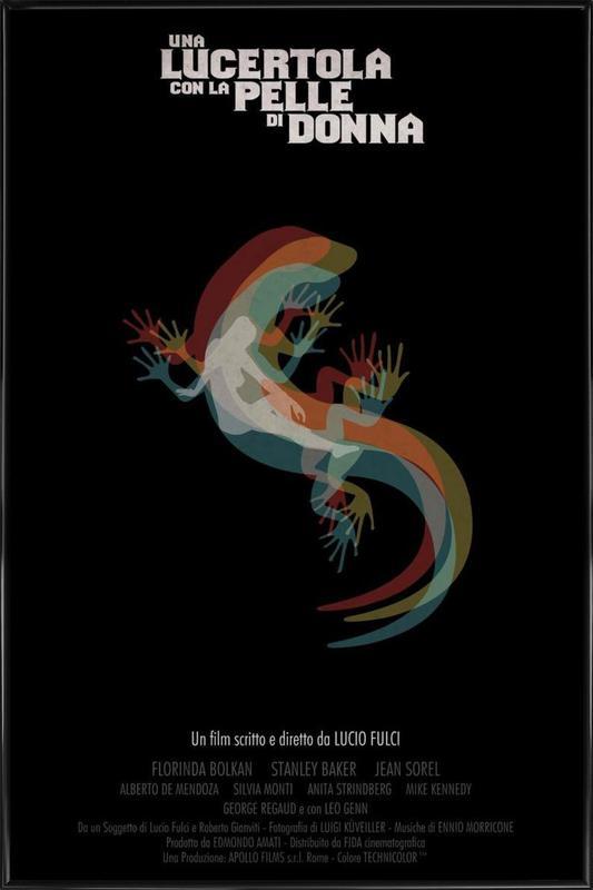 Una Lucertola con la pelle di Donna Framed Poster
