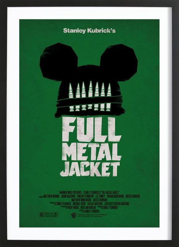 Full Metal Jacket affiche sous cadre en bois