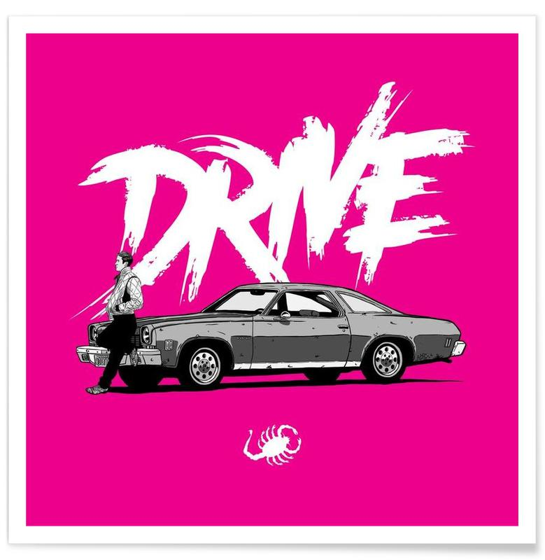 Drive - Pink Poster