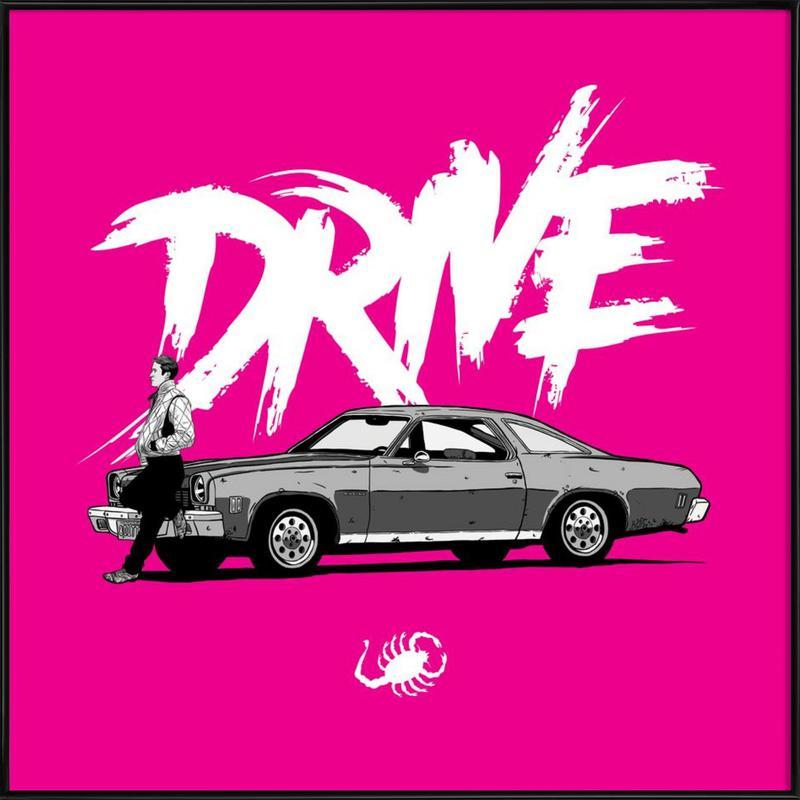 Drive - Pink affiche encadrée