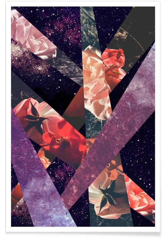 Roses in the galaxy affiche