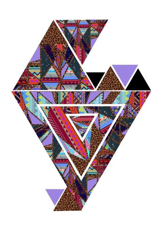 Retro Kaleido -Acrylglasbild
