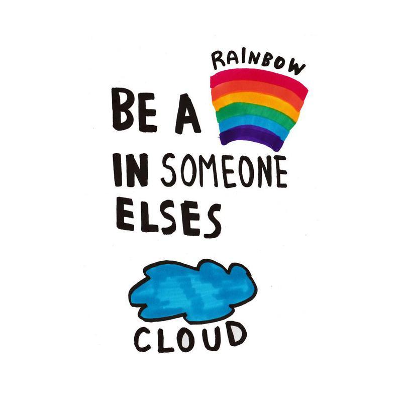 Be A Rainbow Acrylic Print