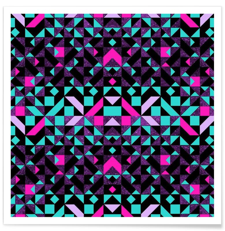 Patterns, Geometric Galaxy Poster