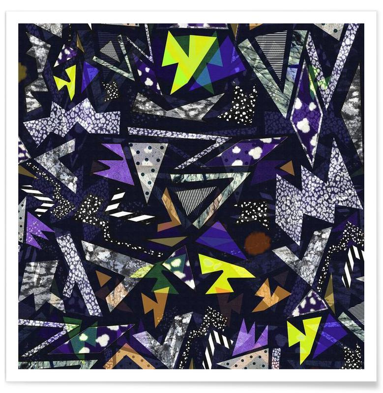 Patterns, Geometric Moonlight Poster