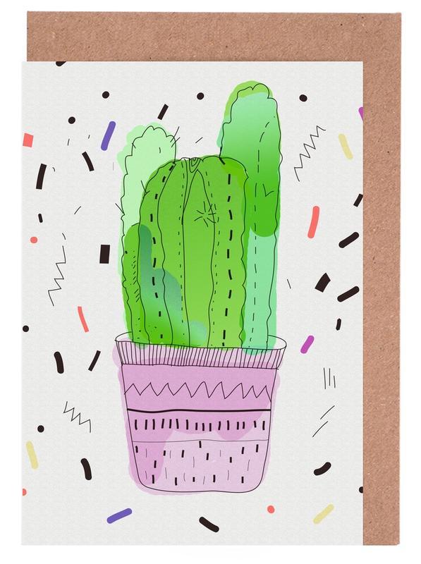 Kaktus, Cactus -Grußkarten-Set