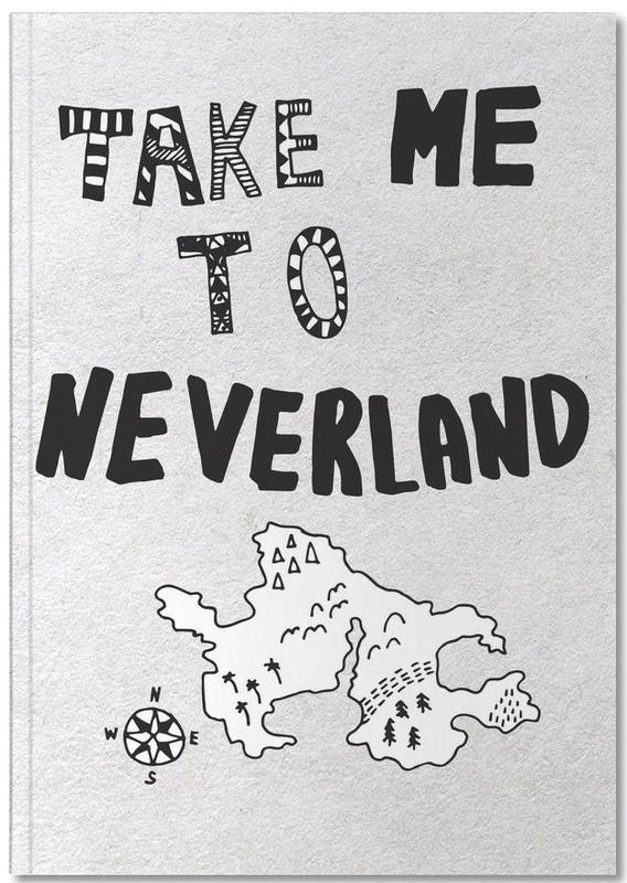 Zwart en wit, Kunst voor kinderen, Take Me To Neverland Notebook