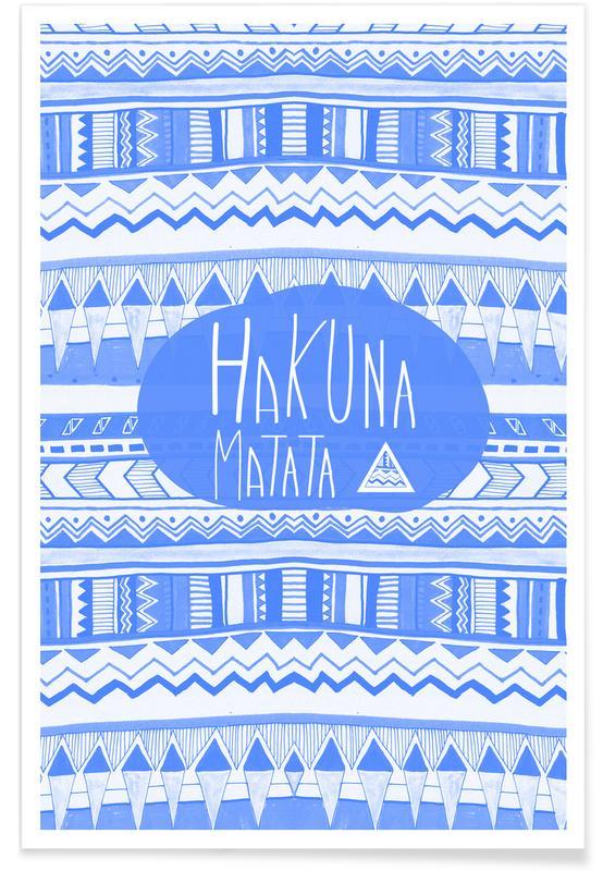 Motivational, Hakuna Matata Navy Blue Poster