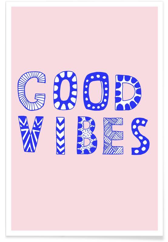 Motivational, Good Vibes Pink Poster