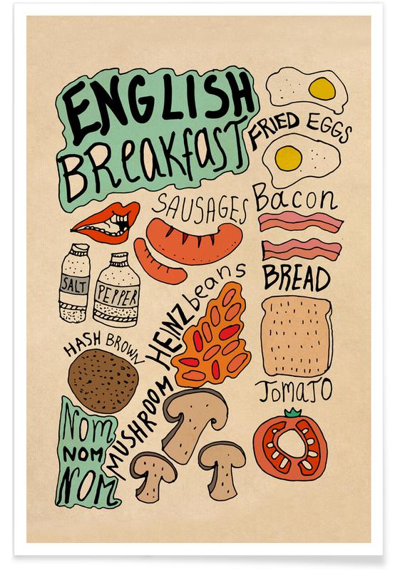 , English Breakfast Poster