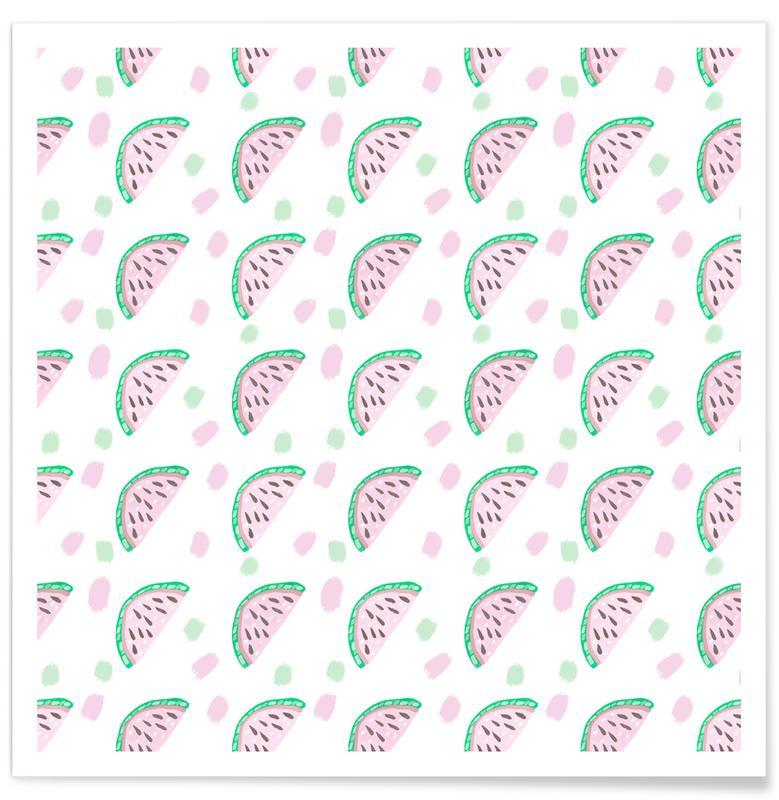Watermelon Pattern -Poster
