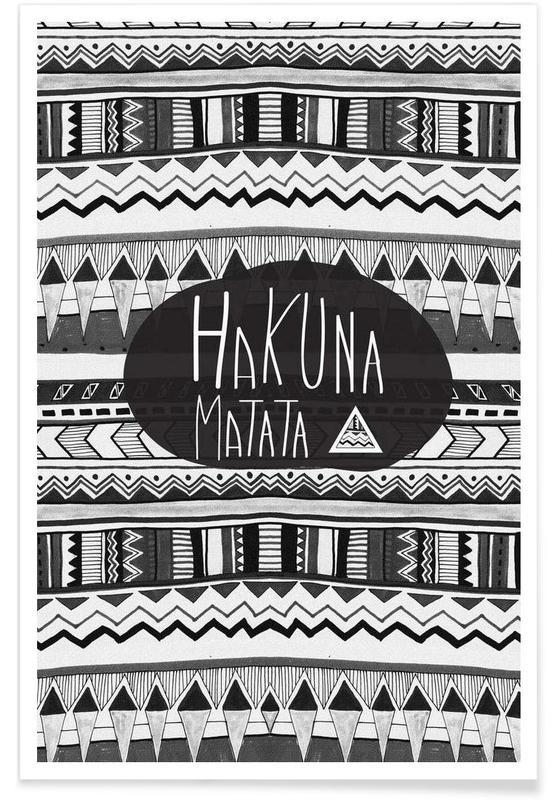 Motivation, Citations et slogans, Hakuna matata affiche