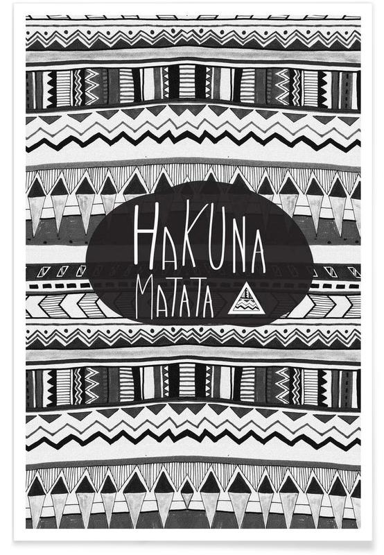 Motivatie, Quotes en slogans, Hakuna matata poster