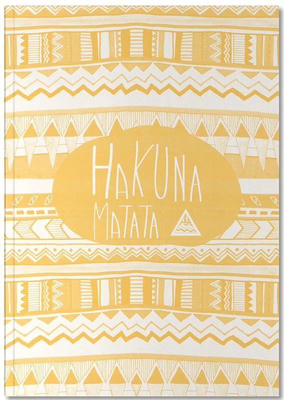 Hakuna Matata Yellow Notebook