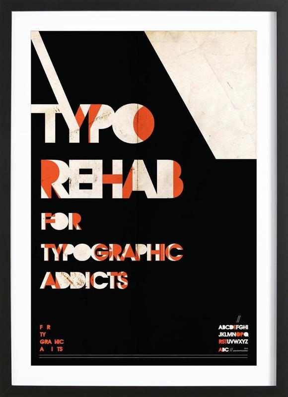 Typo rehab Framed Print