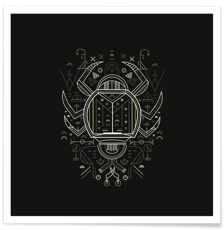 Scarabées, Noir & blanc, Zenith Beetle affiche