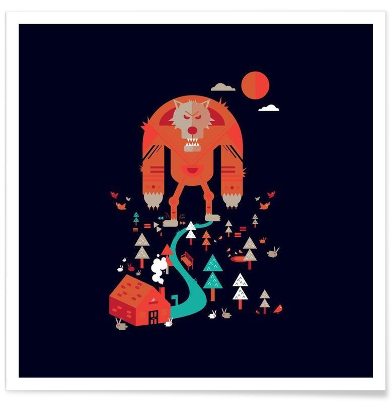 Art pour enfants, Wolf affiche
