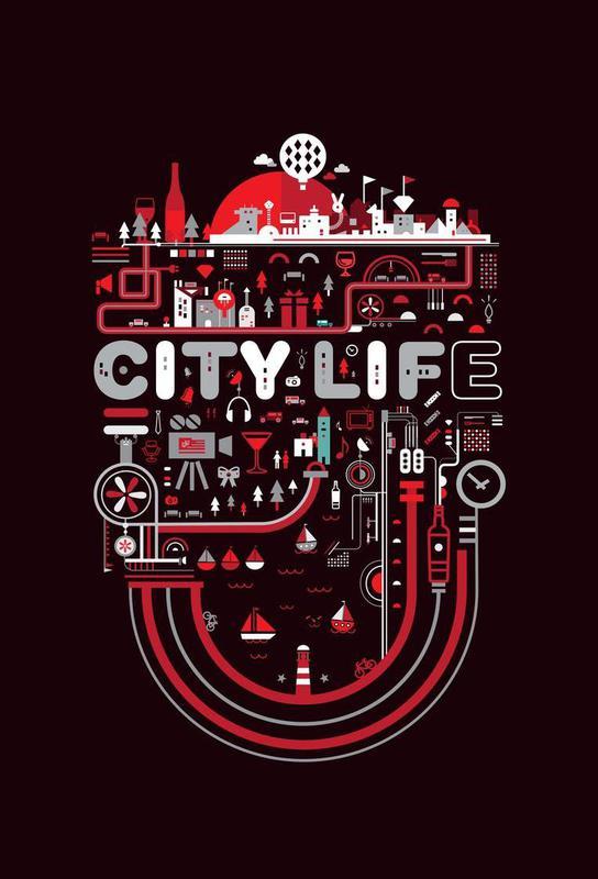 City Life Aluminium Print
