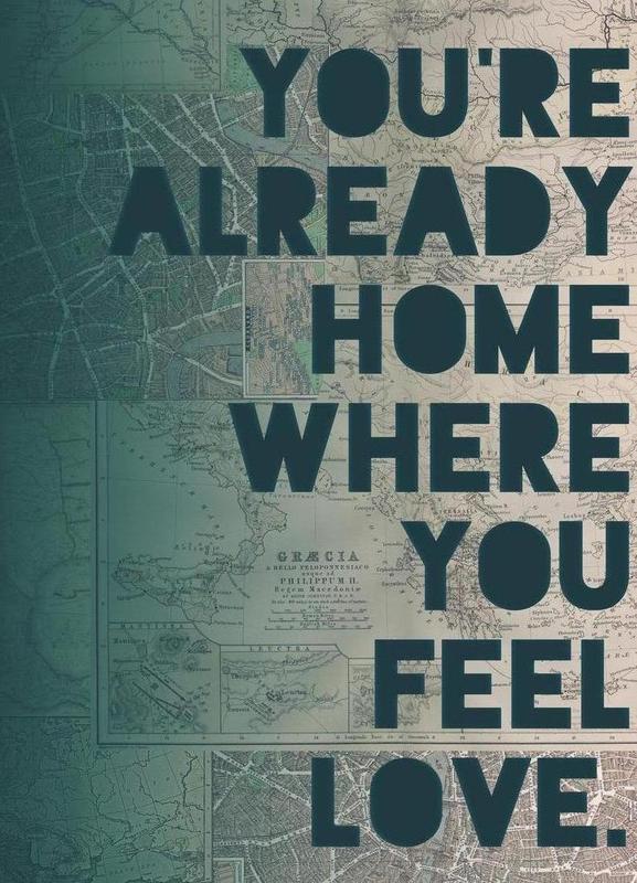 Home -Leinwandbild