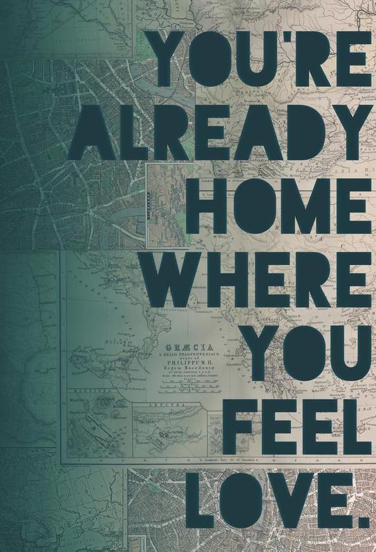 Home -Acrylglasbild