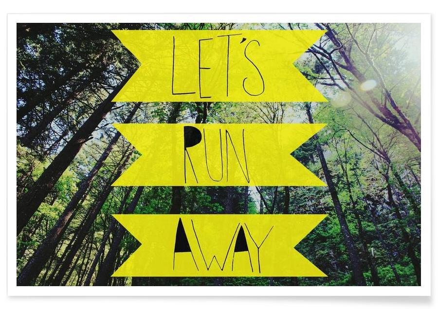 Let's Run Away - to the forest affiche