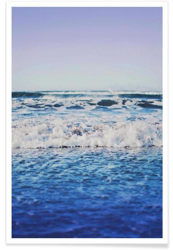 Indigo Waves Poster