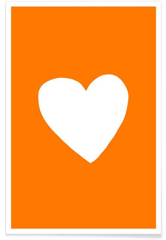 Harten, Jubileums en liefde, Valentijnsdag, Autumn Heart poster