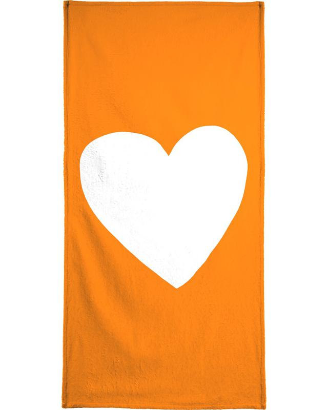 Autumn Heart Beach Towel