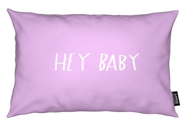 Anniversaires de mariage et amour, Citations et slogans, Saint-Valentin, Hey Baby Pink coussin