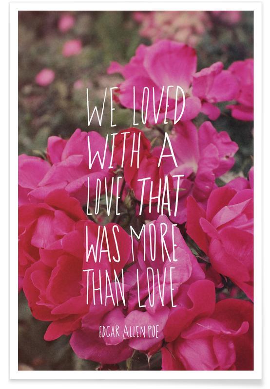 Liefdescitaten, Rozen, Poe Love poster