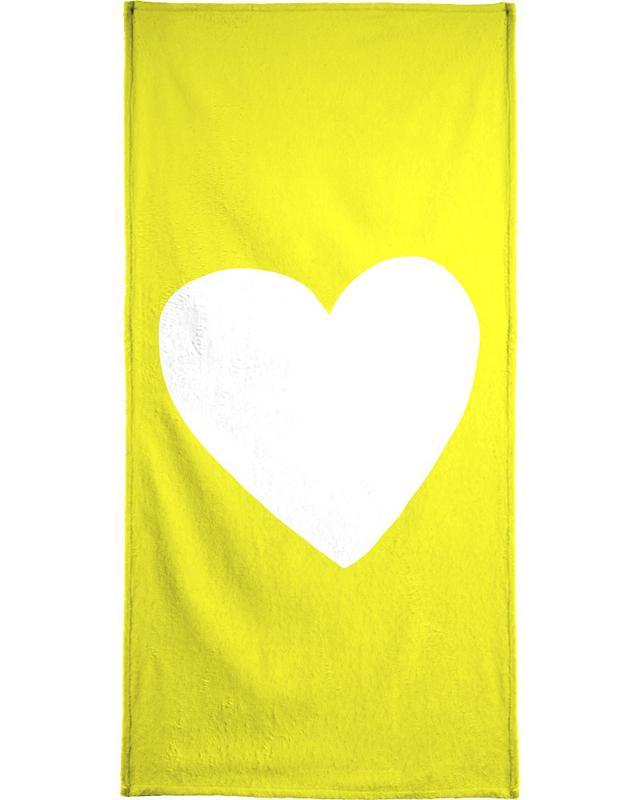 Sunshine Heart Bath Towel