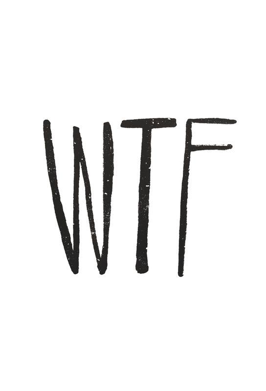 WTF Impression sur alu-Dibond