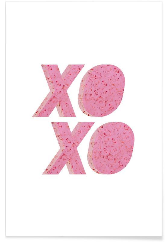 Zitate & Slogans, Geburtstage, Glückwünsche, XO Roses -Poster