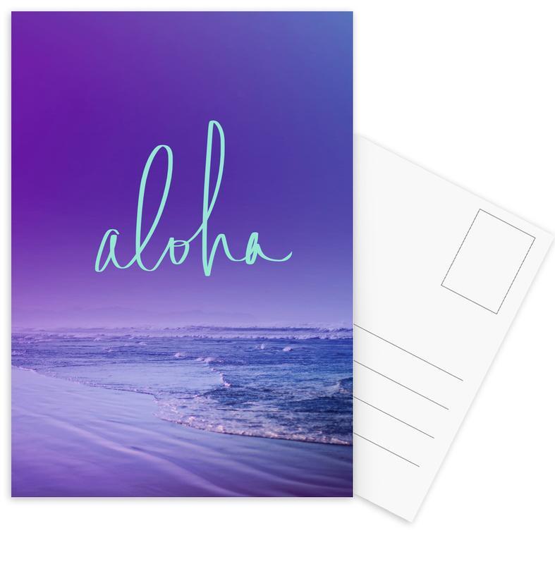 Oceanen, zeeën en meren, Aloha ansichtkaartenset