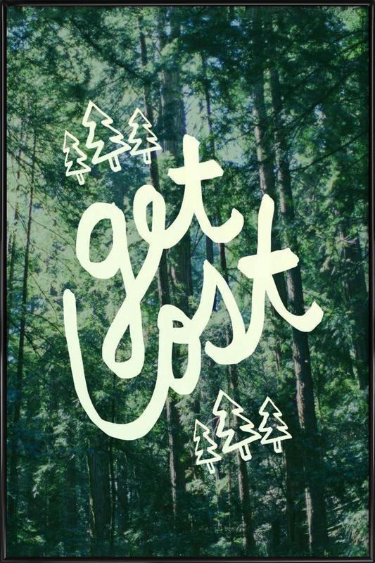 Get Lost Forest -Bild mit Kunststoffrahmen
