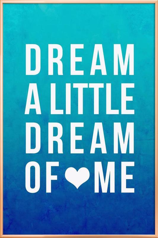 Dream Blue Poster in Aluminium Frame