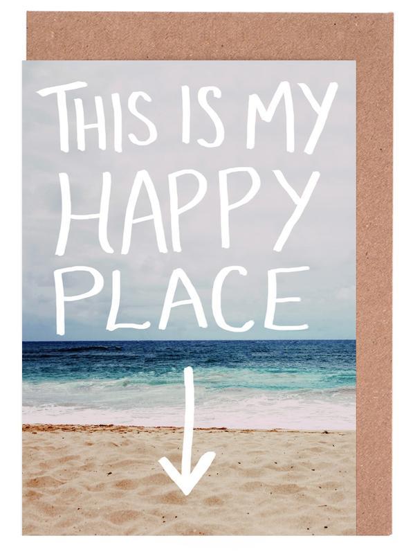 Happy Place -Grußkarten-Set