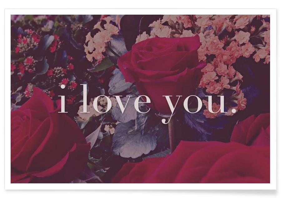 Citations d'amour, I Love You affiche
