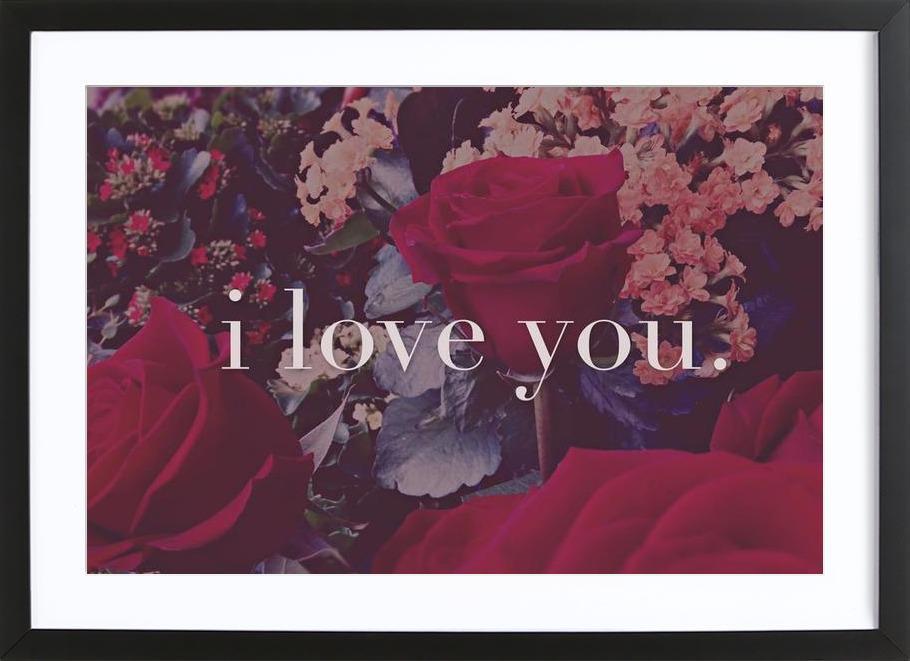 I Love You ingelijste print