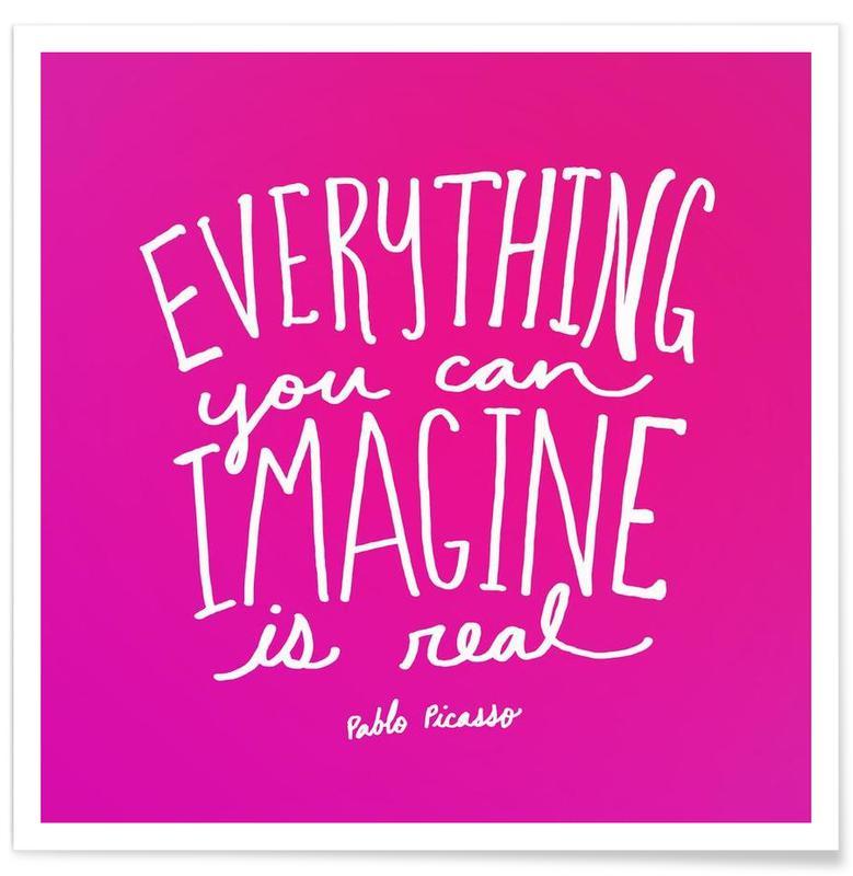 Imagine - Pink -Poster