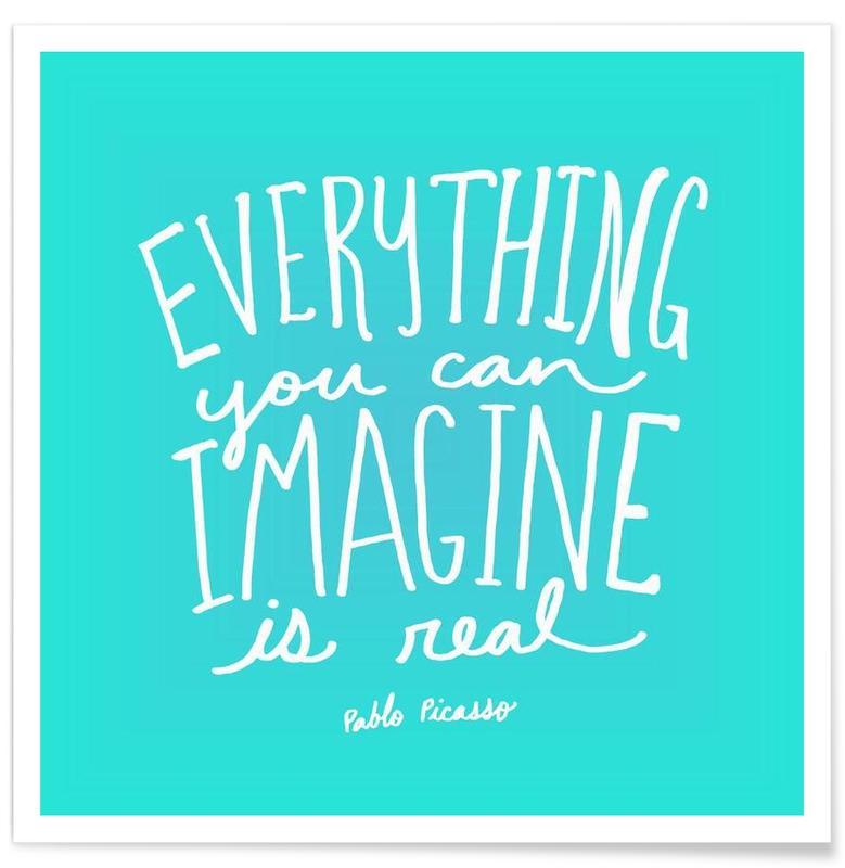 Motivation, Citations et slogans, Imagine - Teal affiche