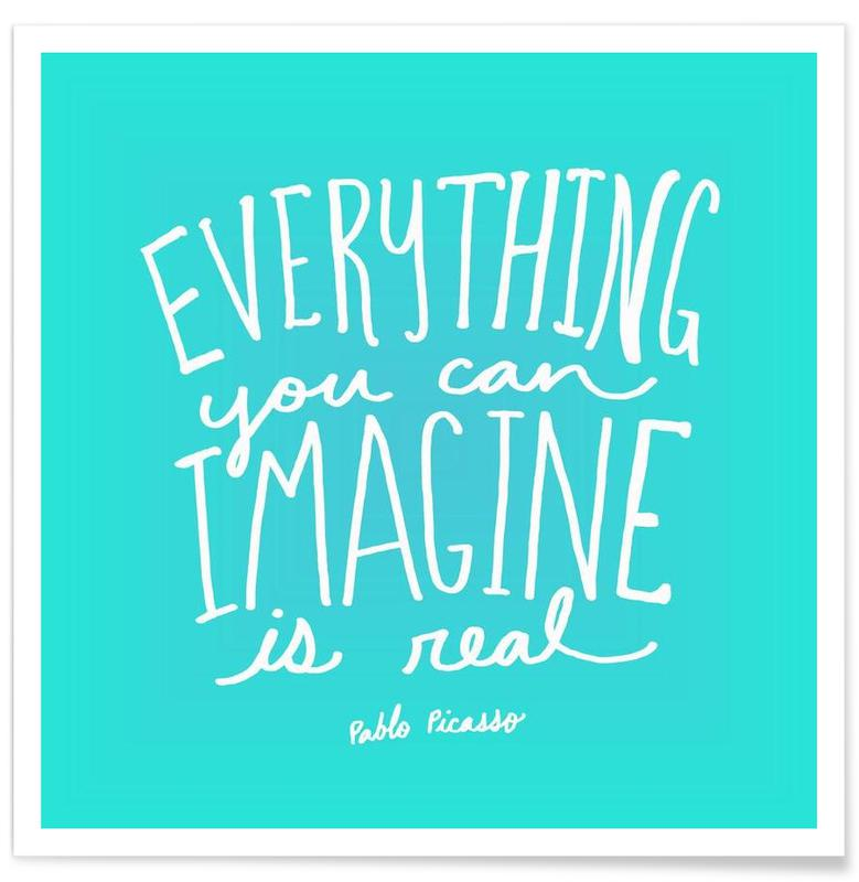 Imagine - Teal Poster